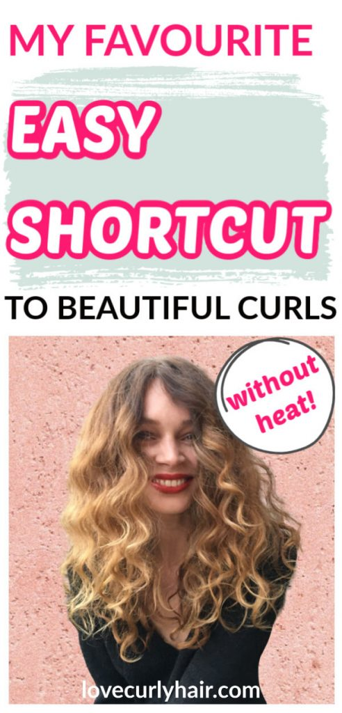 easy way to style curls no heat