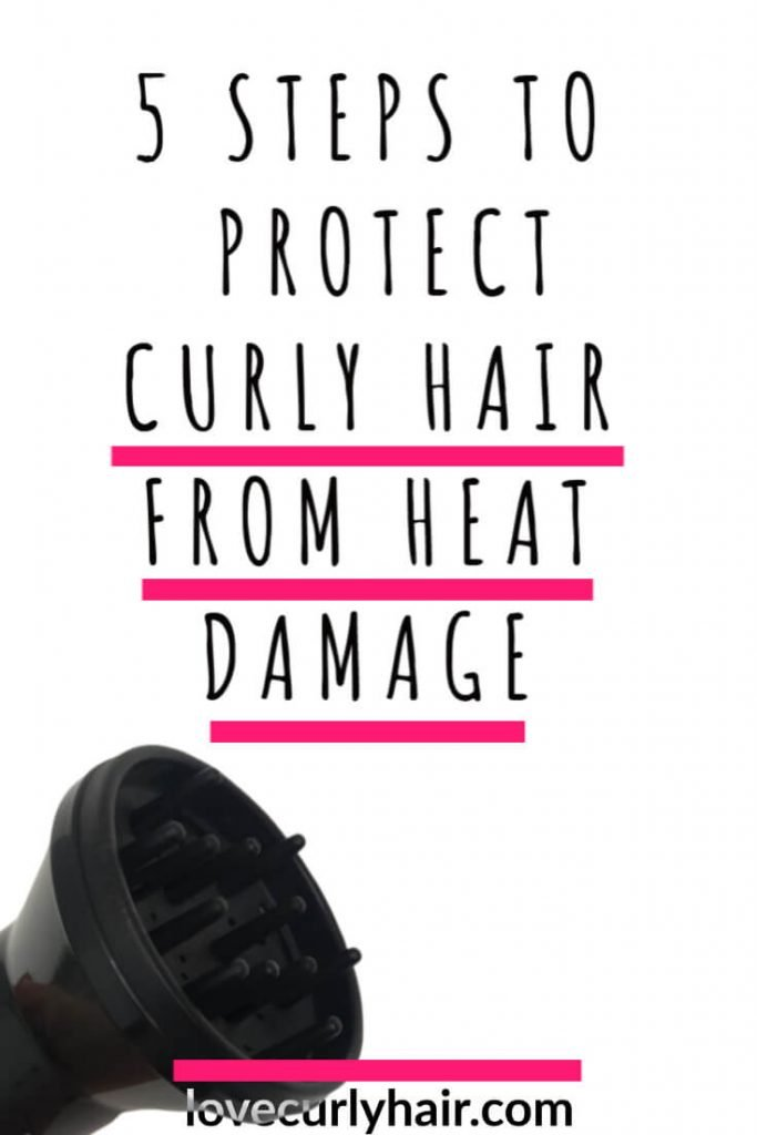 protect curly hair from heat damage