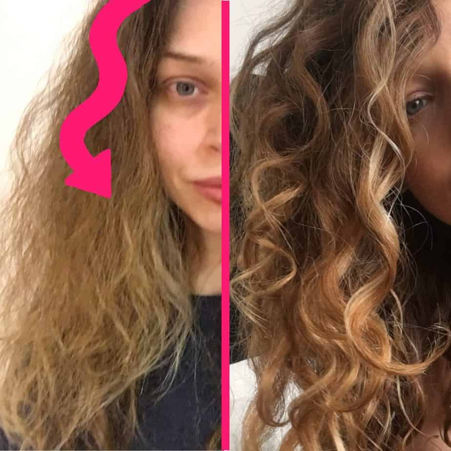care for frizzy curly hair in the summer