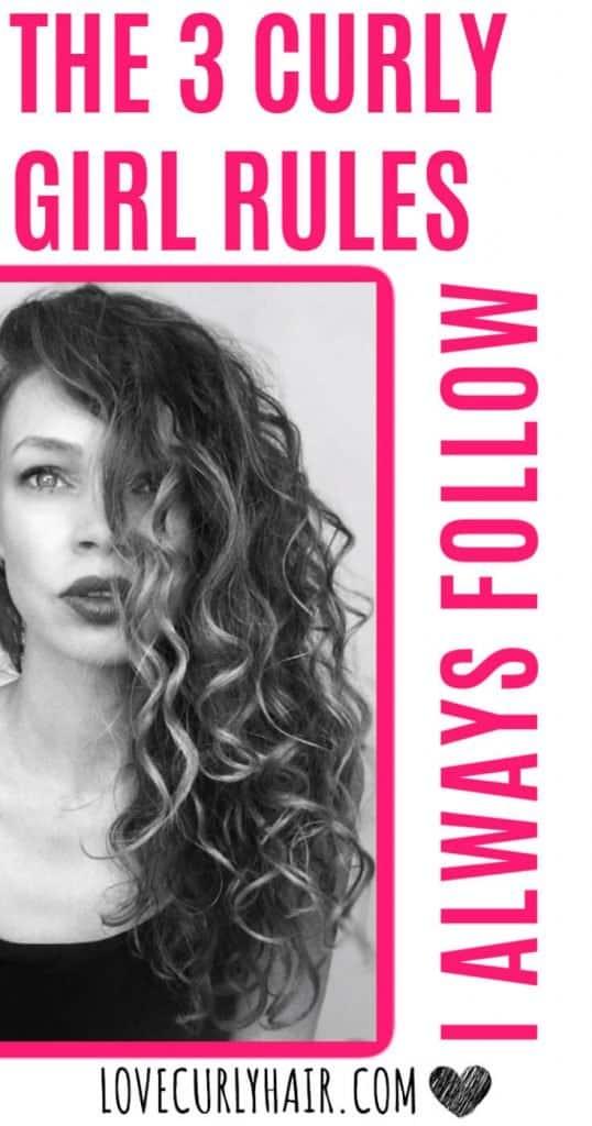 curly hair rules I always follow