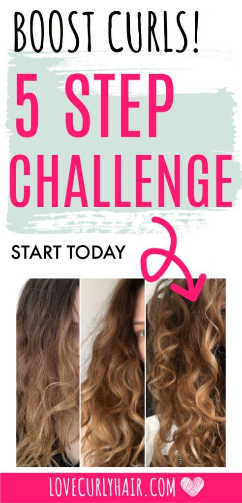 5 step curl challenge