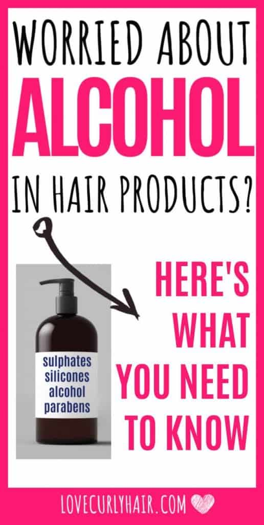 alcohol in hair products