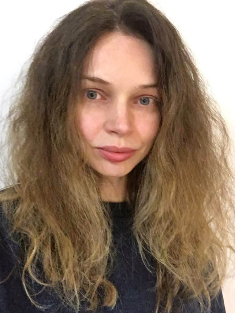 frizzy hair due to humidity or mist