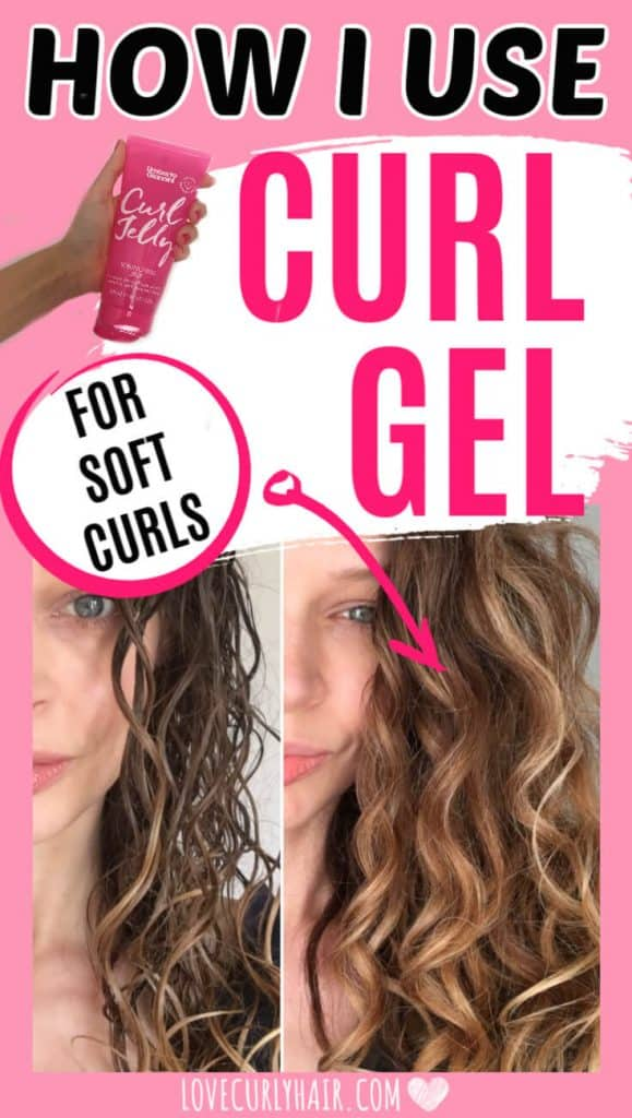 follow the curly girl method and style with gel