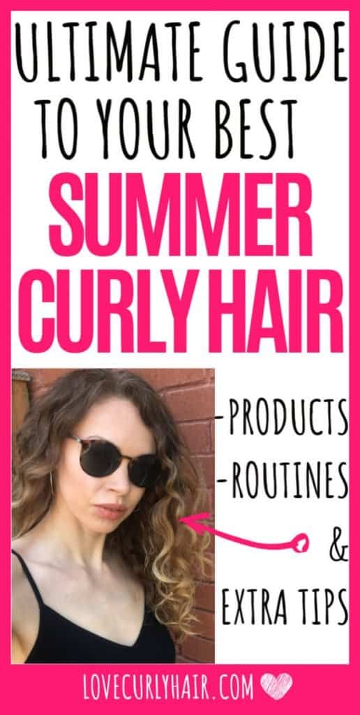 how to care for curly hair in the summer