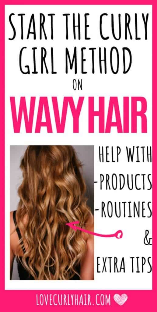 product guide for wavy hair curly girl method