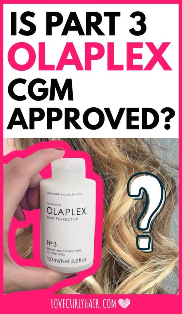 is olaplex part 3 cgm approved