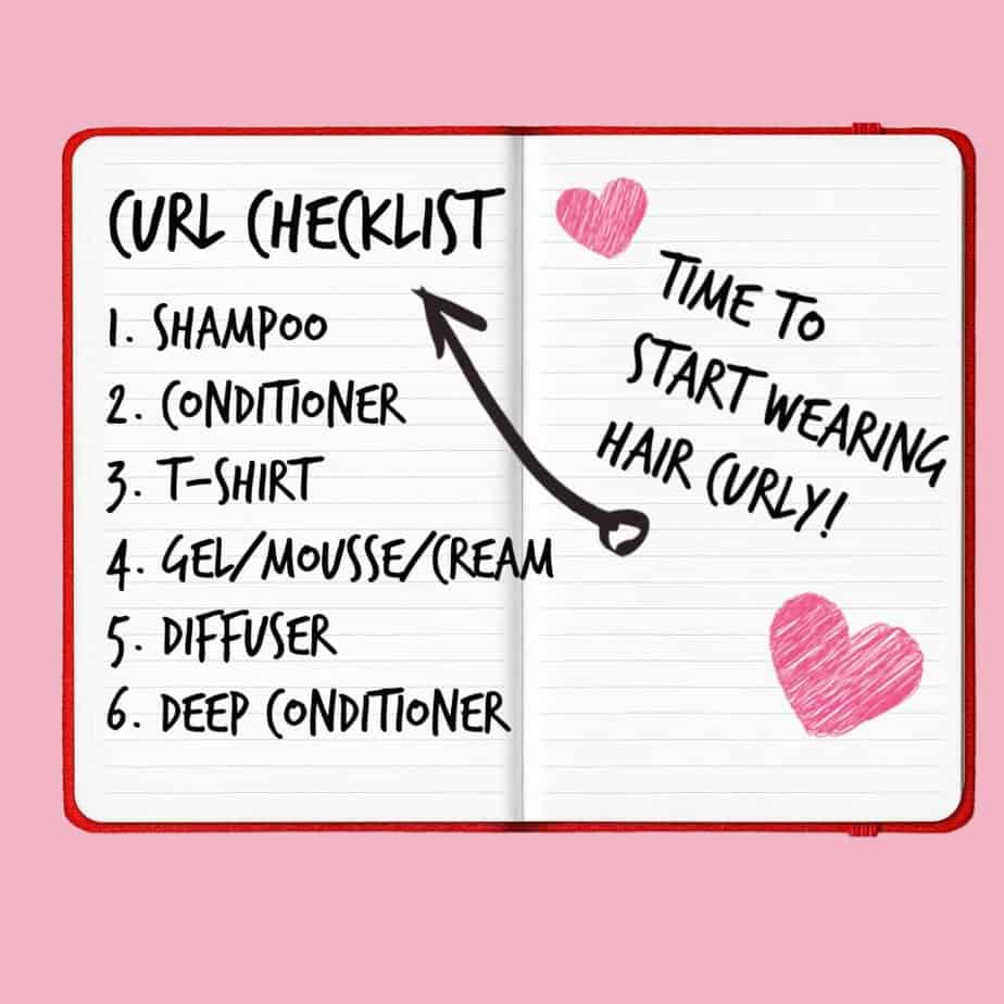 curly hair routine checklist for beginners