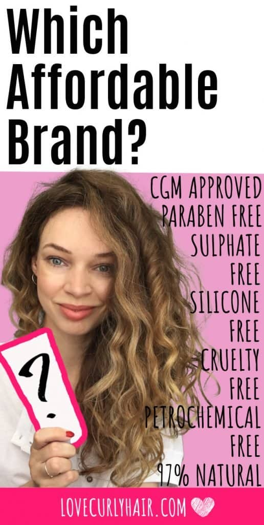 curly girl method approved hair products