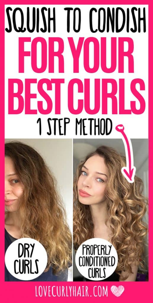 squish to condish conditioning curly hair